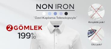 Kiğılı 2 Non-Iron Gömlek 199,90 TL Kampanyası