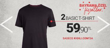 Kiğılı 2 Basic T-Shirt 59,90 TL Kampanyası