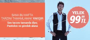 Kiğılı Gömlek ve Pantolon Alana Yelekler 99,99 TL Kampanyası