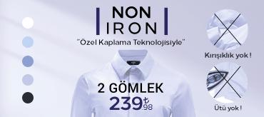Kiğılı 2 Non-Iron Gömlek 239,98 TL Kampanyası