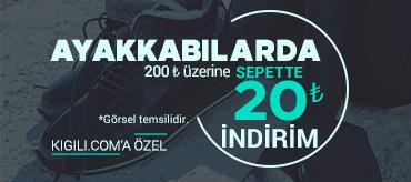 Kiğılı Ayakkabılarda 200 TL üzeri 20 TL İndirim Kampanyası