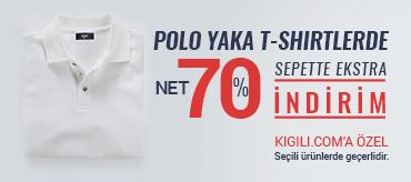 Kiğılı Polo Yaka Tişörtlerde Sepette %70 İndirim Kampanyası