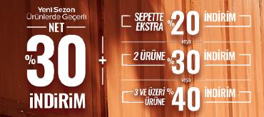 Kiğılı Net %30 İndirime Ek Sepet İndirimleri Kampanyası