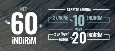 Kiğılı Net %60  İndirime Ek Sepet İndirimleri Kampanyası