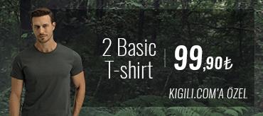 Kiğılı 2 Basic Tişört 99,90 TL Kampanyası