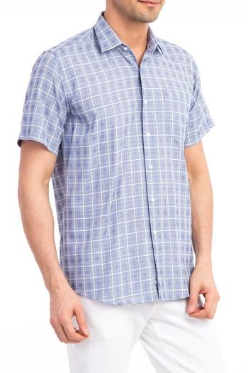 Erkek Giyim - Kısa Kol Ekose Gömlek