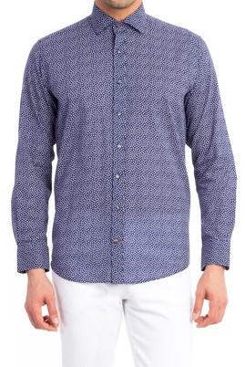 Erkek Giyim - Lacivert XL Beden Uzun Kol Spor Gömlek
