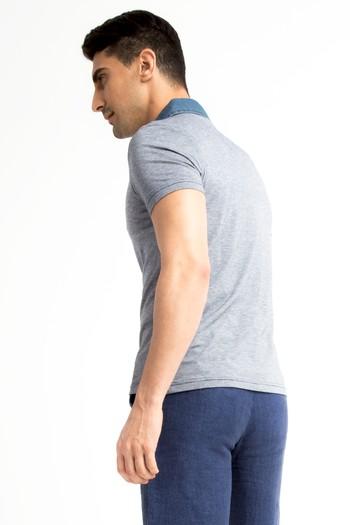Erkek Giyim - Regular Fit Denim Süprem Polo Yaka Tişört