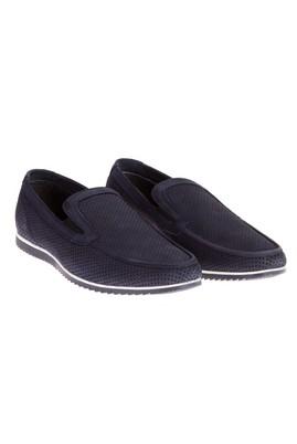Erkek Giyim - Lacivert 40 Beden Nubuk Deri Spor Ayakkabı