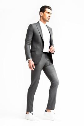 Erkek Giyim - Orta füme 58 Beden Kuşgözü Takım Elbise