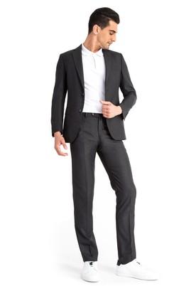 Erkek Giyim - Antrasit 46 Beden Desenli Takım Elbise