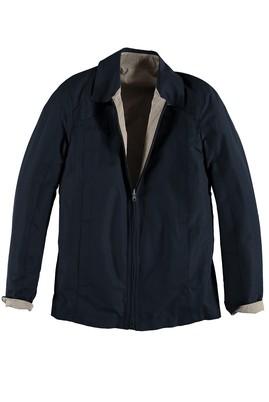 Erkek Giyim - Lacivert 50 Beden Çift Taraflı Mont