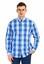 Mavi  Uzun Kol Desenli Gömlek