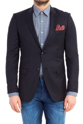 Erkek Giyim - Lacivert 46 Beden Slim Fit Blazer Ceket