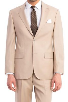 Erkek Giyim - Krem 54 Beden Klasik Takım Elbise