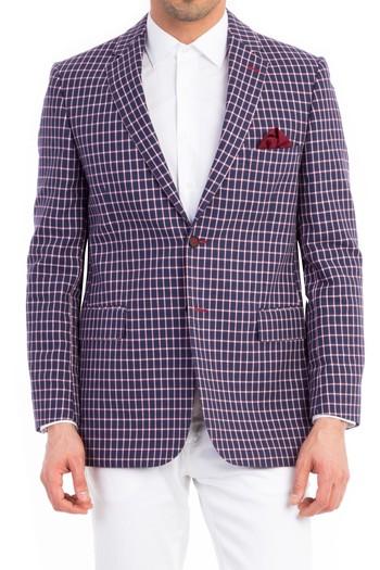 Erkek Giyim - Kareli Klasik Ceket