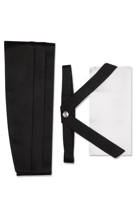 Erkek Giyim - Siyah STD Beden Bant Kuşak Takımı