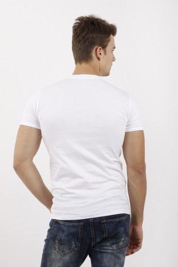 Erkek Giyim - 2'li Bisıklet Yaka Fanila