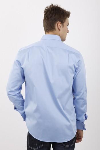 Erkek Giyim - Uzun Kol Manşetli Klasik Saten Gömlek