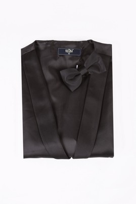 Erkek Giyim - Siyah L Beden Yelek Papyon Takımı