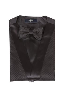 Erkek Giyim - Siyah XXL Beden Yelek Papyon Takımı
