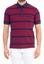 Bordo  Polo Yaka Çizgili Tişört