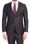 Siyah  Süper Slim Fit Kuşgözü Takım Elbise