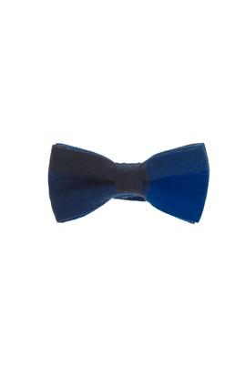 Erkek Giyim - Mavi STD Beden Desenli Papyon