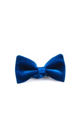 Erkek Giyim - Mavi STD Beden Kadife Papyon