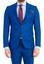 Mavi  Süper Slim Fit Astarsız Takım Elbise