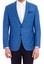 Açık Mavi  Kareli Ceket