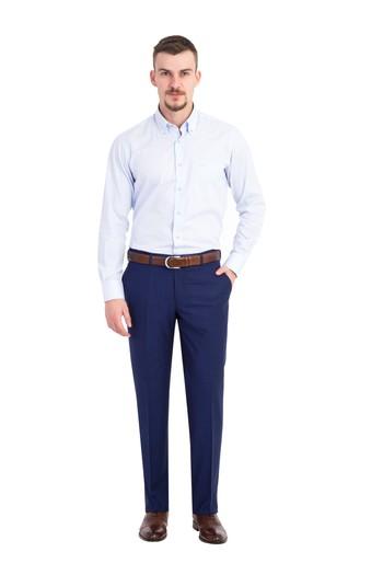 Erkek Giyim - Kareli Slim Fit Pantolon