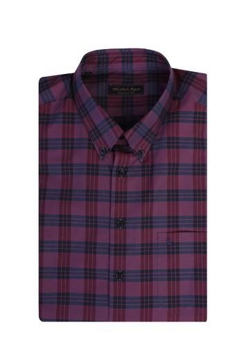 Erkek Giyim - King Size Ekose Gömlek