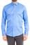 Mavi  Uzun Kol Saten Slim Fit Gömlek