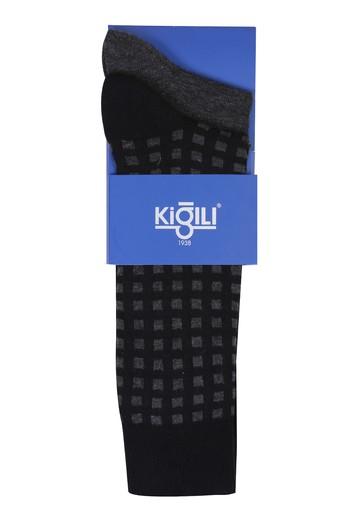 Erkek Giyim - 2'li Kareli Çorap