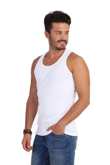 Erkek Giyim - 2'li Slim Fit Sporcu Atlet