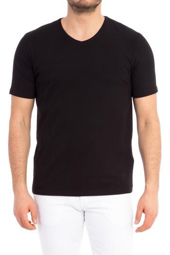 Erkek Giyim - V Yaka Regular Fit Tişört