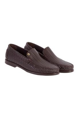 Erkek Giyim - Kahve 44 Beden Örgü Desenli Ayakkabı