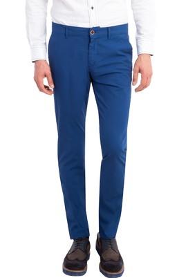 Erkek Giyim - Mavi 46 Beden Slim Fit Desenli Spor Pantolon