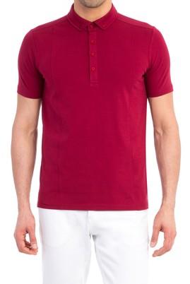 Erkek Giyim - Bordo S Beden Polo Yaka Süprem Slim Fit Tişört
