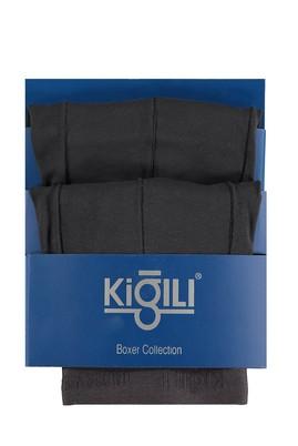 Erkek Giyim - Füme Gri XL Beden 2'li Süprem Boxer