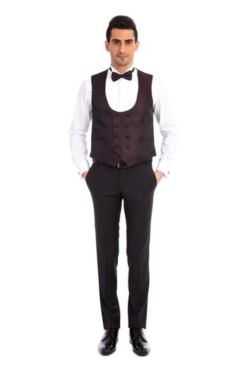 Erkek Giyim - Desenli Şal Yaka Smokin / Damatlık & Set