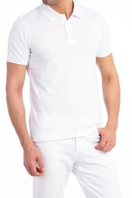 Erkek Giyim - Beyaz M Beden Regular Fit Süprem Polo Yaka Tişört