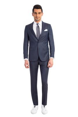 Erkek Giyim - Petrol 50 Beden Kuşgözü Takım Elbise