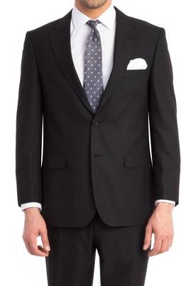 Erkek Giyim - Siyah 50 Beden Kuşgözü Takım Elbise