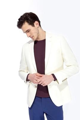 Erkek Giyim - Krem 46 Beden İtalyan Ceket