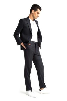 Erkek Giyim - Antrasit 48 Beden Kuşgözü Takım Elbise