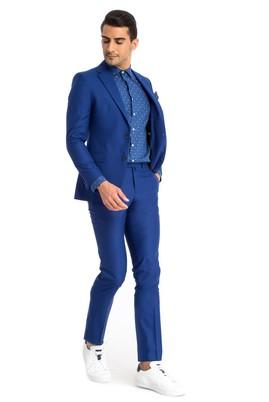 Erkek Giyim - Mavi 48 Beden Klasik Takım Elbise