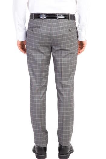 Erkek Giyim - Süper Slim Fit Ekose Takım Elbise