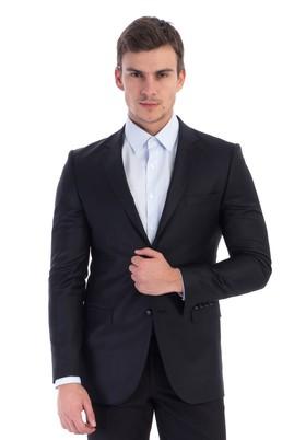 Erkek Giyim - Siyah 46 Beden Slim Fit Blazer Ceket
